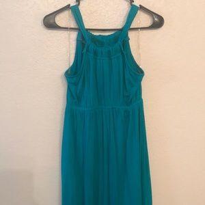 Summery teal green mid length dress